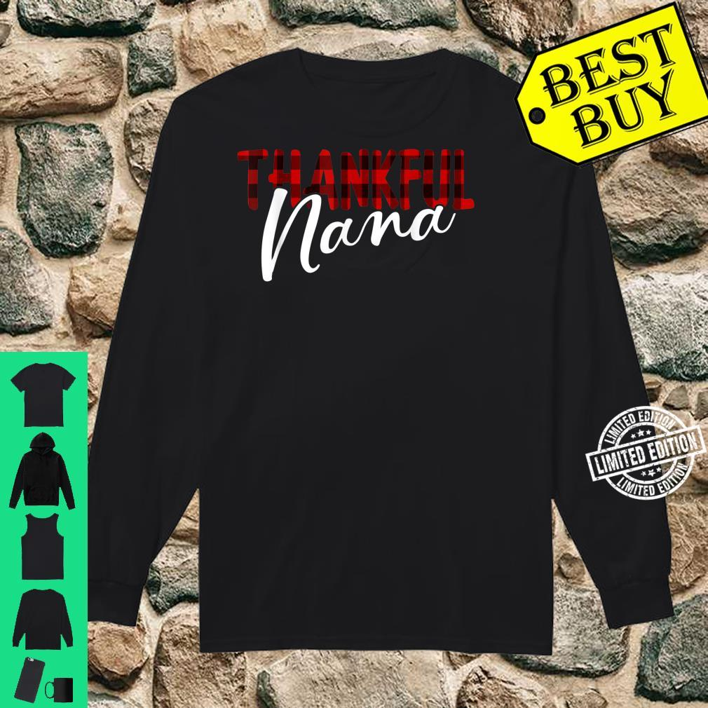 Thankful Nana Buffalo Plaid Thanksgiving Grandma Shirt long sleeved