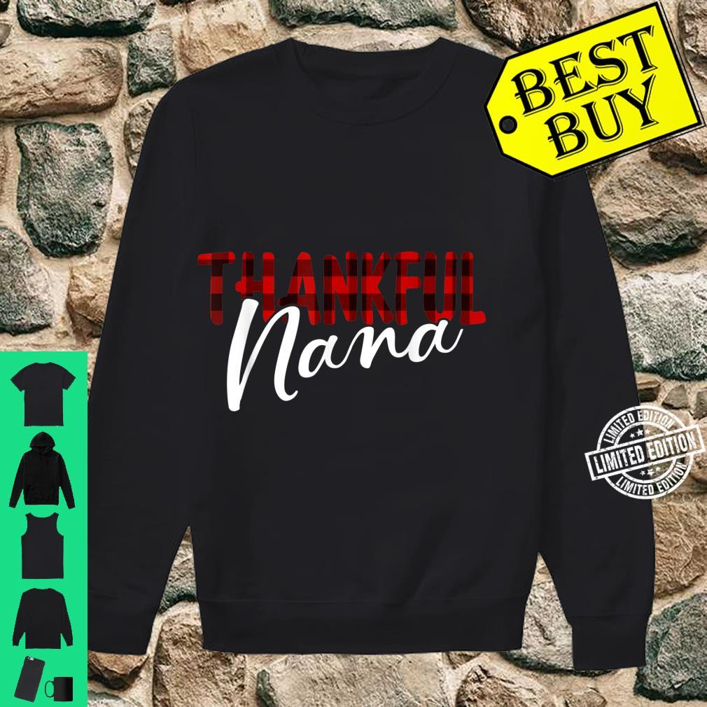 Thankful Nana Buffalo Plaid Thanksgiving Grandma Shirt sweater