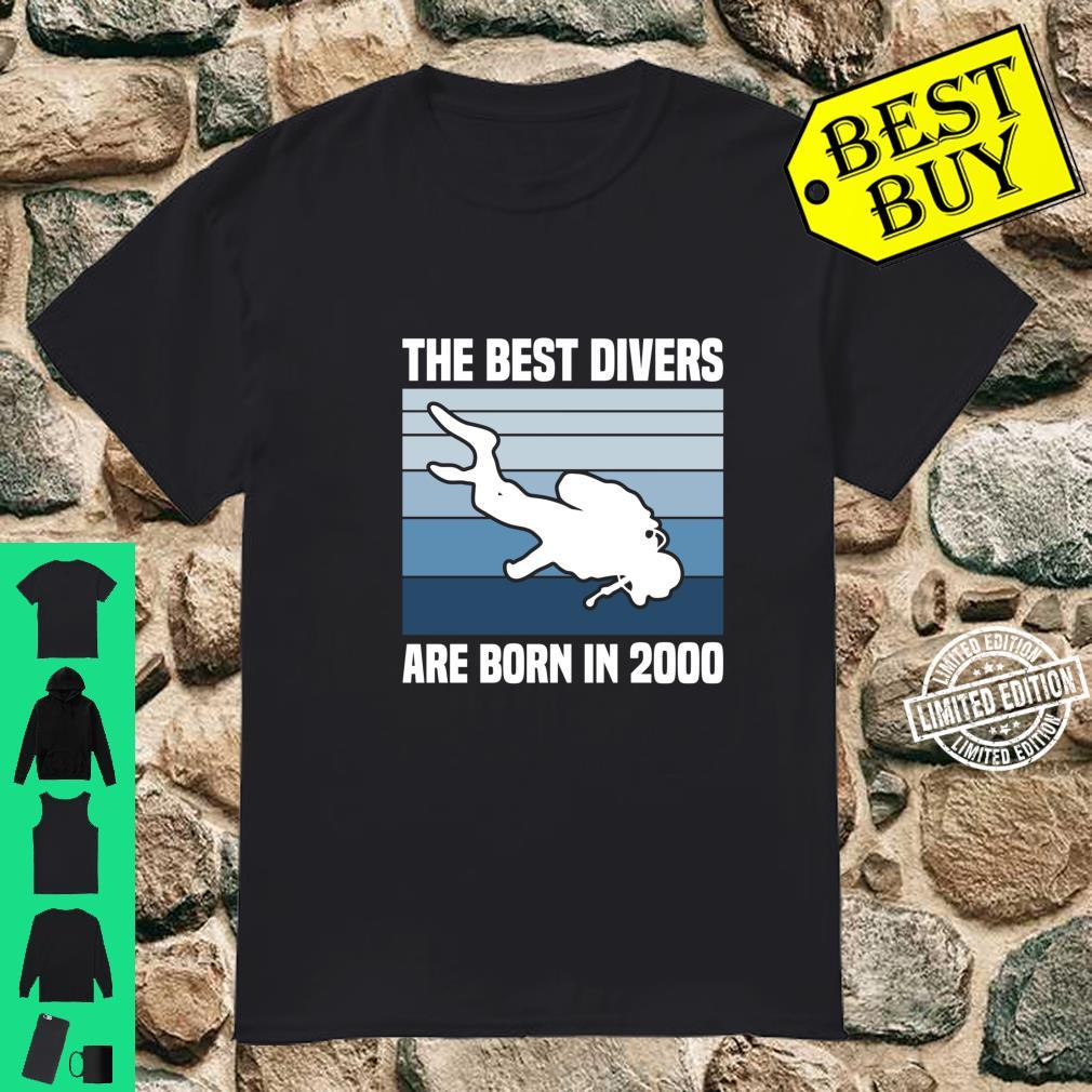 The Best Divers Are Born In 2000 Scuba Diving 21st Birthday Shirt