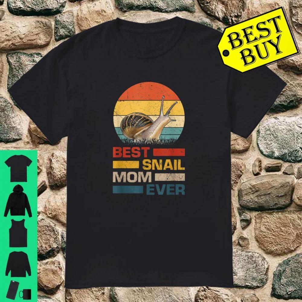 Vintage Best Snail Mom Ever Gift Animals Lover shirt