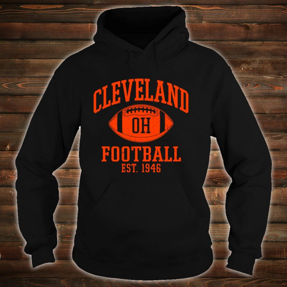 Vintage Distressed Cleveland-Football Ohio Retro Brown CLE shirt hoodie