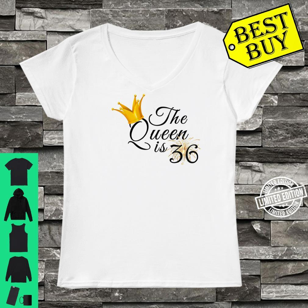 Womens 36th Birthday Ideas For Her Fabulous The Queen Is 36 Shirt ladies tee