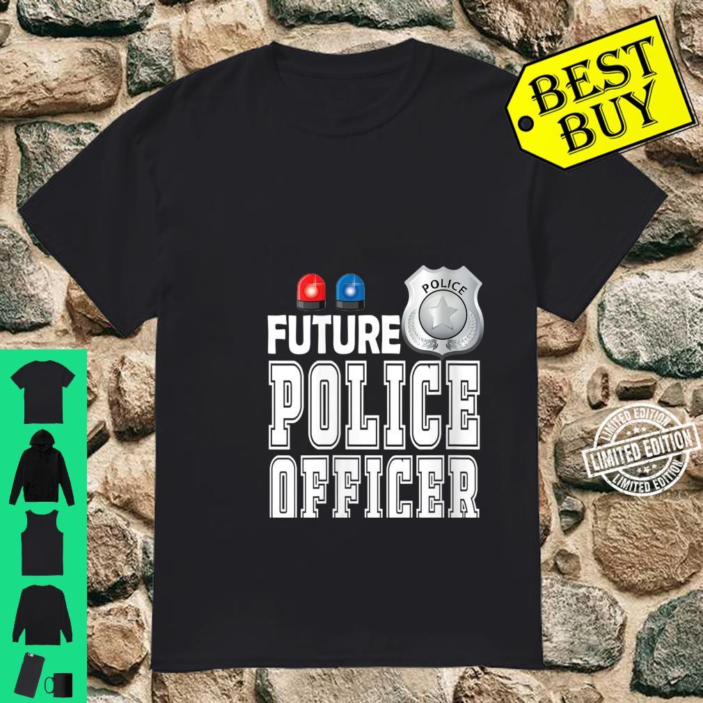 Womens Future Police Officer Patrolman Protect Shield Serve Blue Shirt